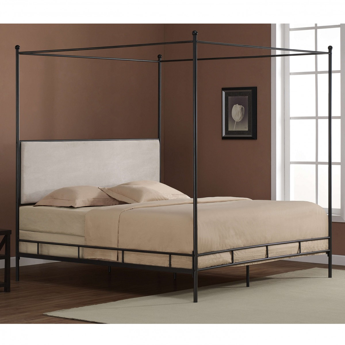 Lion king canopy metal frame bed & king canopy metal frame bed