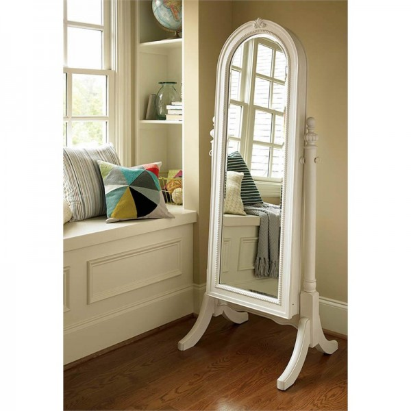 Daisy-white - cheval Mirror