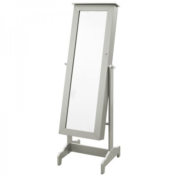 Classy-woods silver cheval mirror