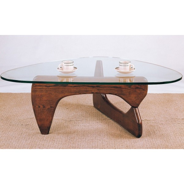 Cherry Glass Top Coffee Table