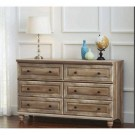 6 drawer-Dresser, Weathered Finish