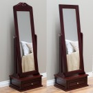 Antique-woods cheval mirror