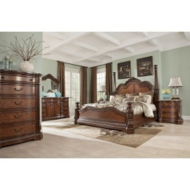 Bedroom Set Collection in Brown