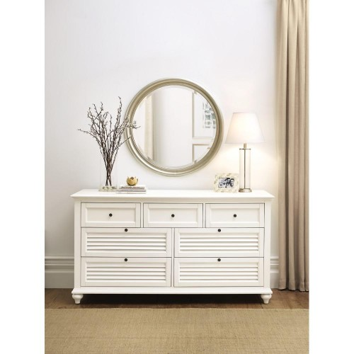 7-Drawer White Dresser