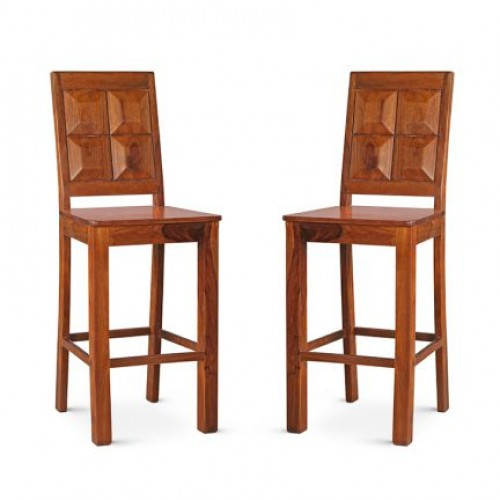 Brown Honey Bar Stool Set of 2