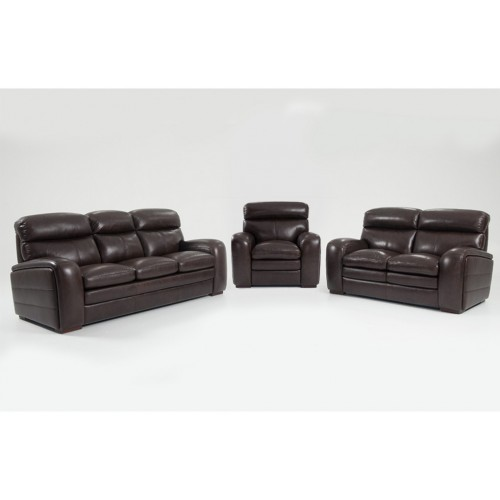 Pole star leathered sofa , chair and loveseat