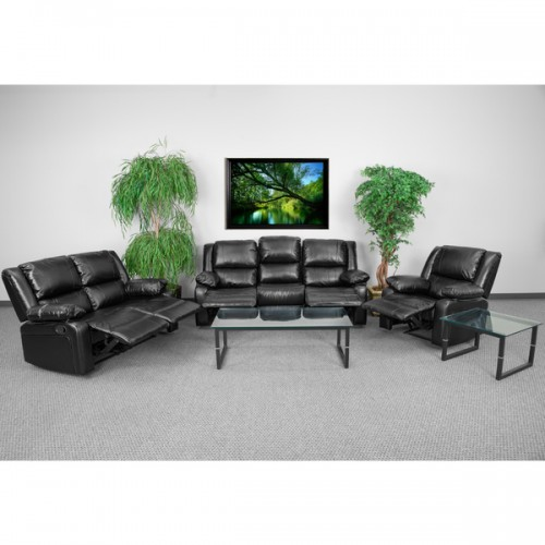 Leathered Reclining Living Room Set