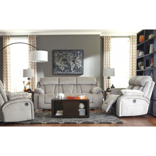 Cozy White Reclining Living Room Set, In White
